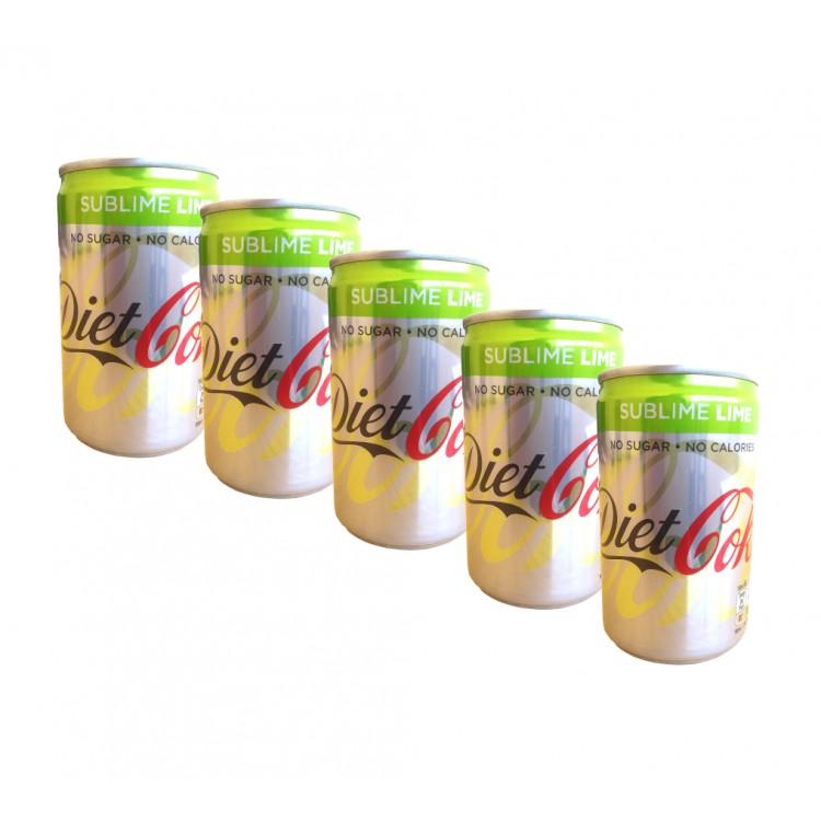 Diet Coke Sublime Lime 150ml - 5 For £1