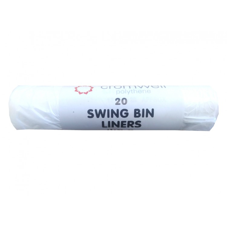 Polythene 20 Swing Bin Liners 13cm x 23cm x 28cm
