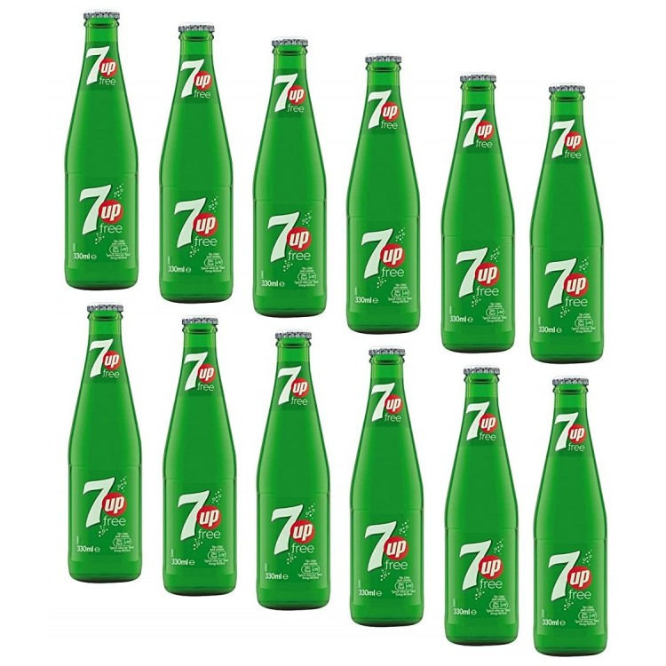 7UP Free Glass Bottled x 12 Soft Drink CASE PRICE