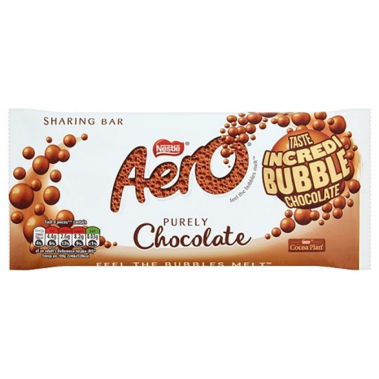Aero Purely Chocolate Sharing Bar 90g