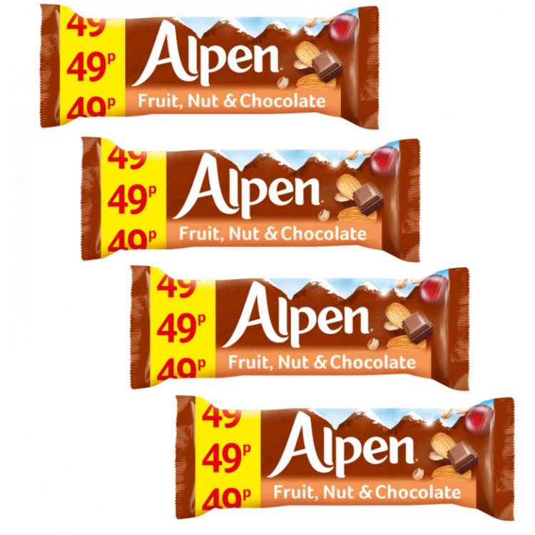 Alpen Fruit And Nut With Chocolate Bar 29g 4 For £1