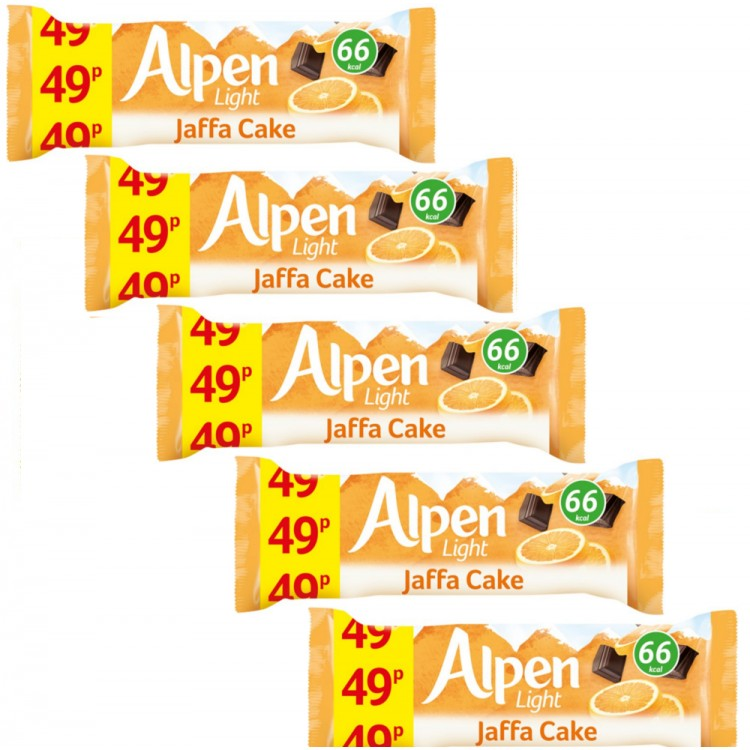 Alpen Light Jaffa Cake Bar 19g  5 For £1