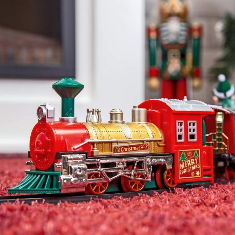Animated Elf Christmas Train Set