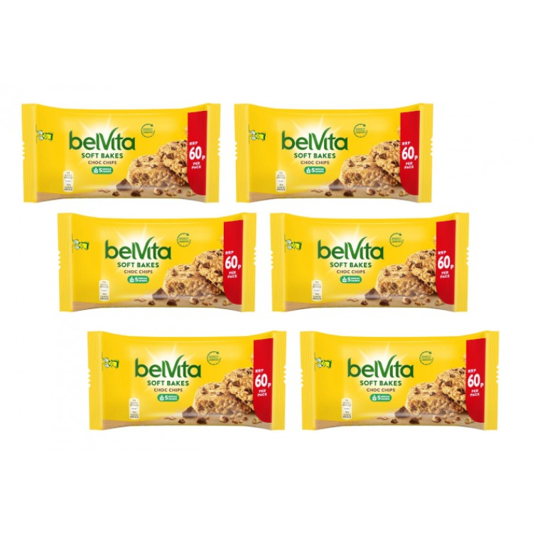 Belvita Breakfast Soft Bakes Chocolate Chips - 6 For £1