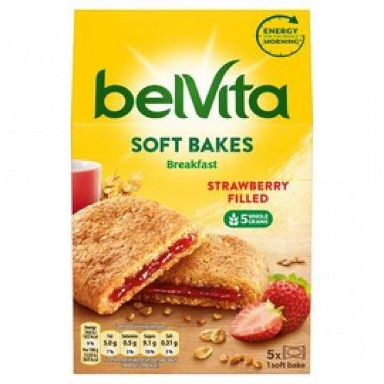 Belvita Strawberry Flavour Filled Soft Bakes 250g