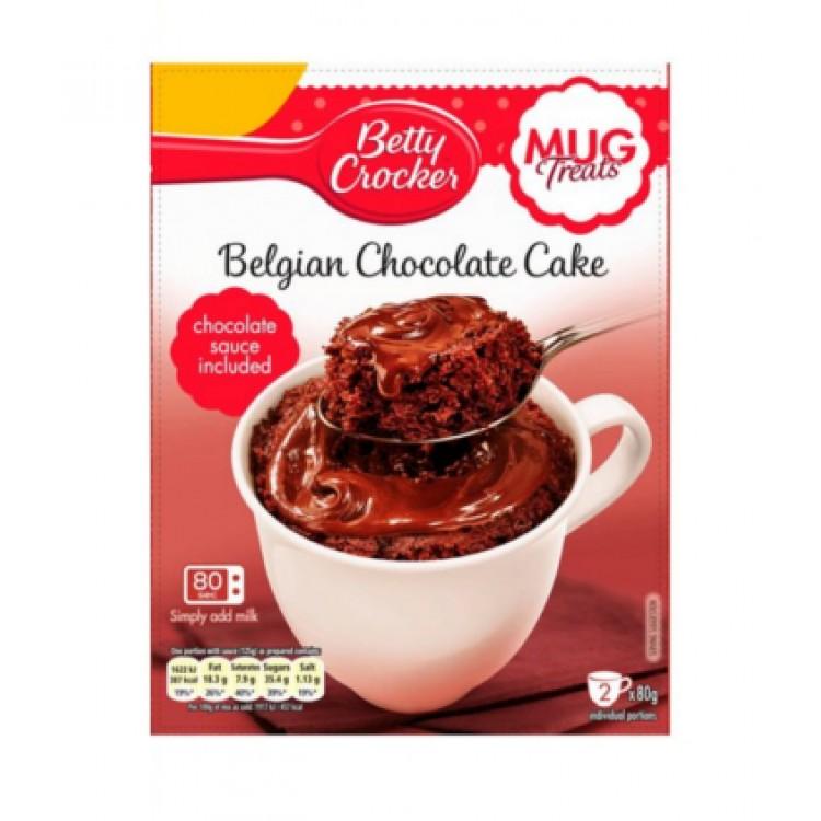 Betty Crockers Belgian Chocolate Cake Mug Kit 2x80g