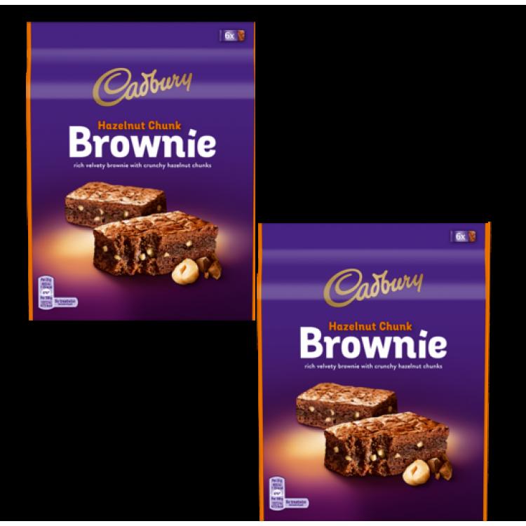 Cadbury Chunky Hazelnut Chocolate Brownies 6pack - 2 For £1.50