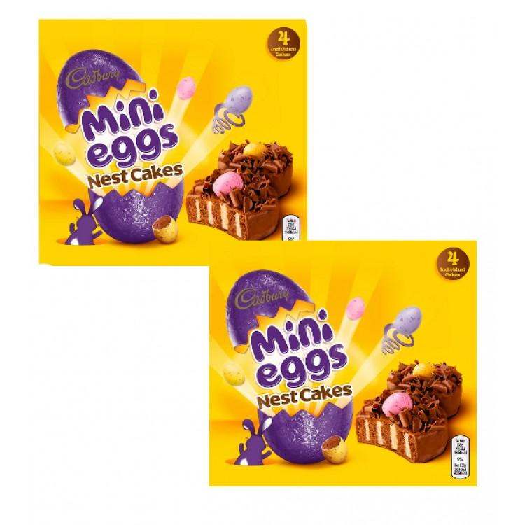 Cadburys Mini Egg Nest Cakes x4 - 2 For £1