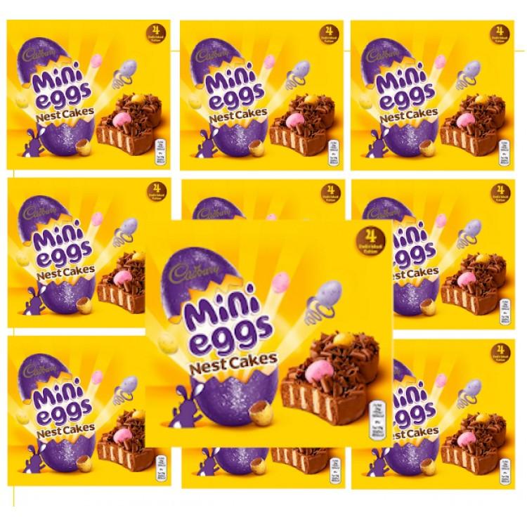 Cadburys Mini Egg Nest Cakes x4 - CASE PRICE x10