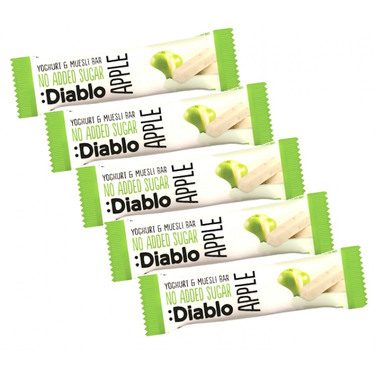 Diablo Apple Yogurt & Muesli Bar 30g - 5 For £1