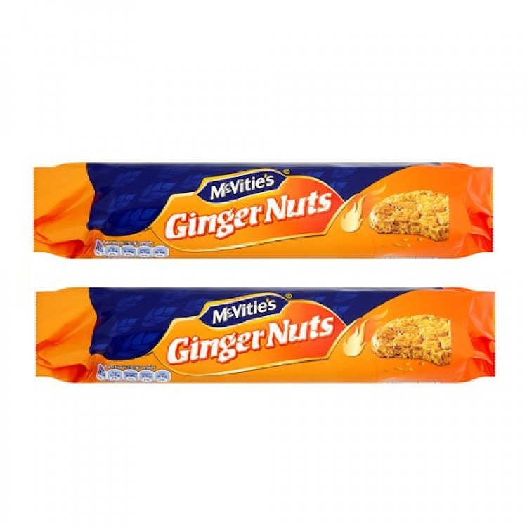Mcvities Ginger Nuts 250g 2 For £1