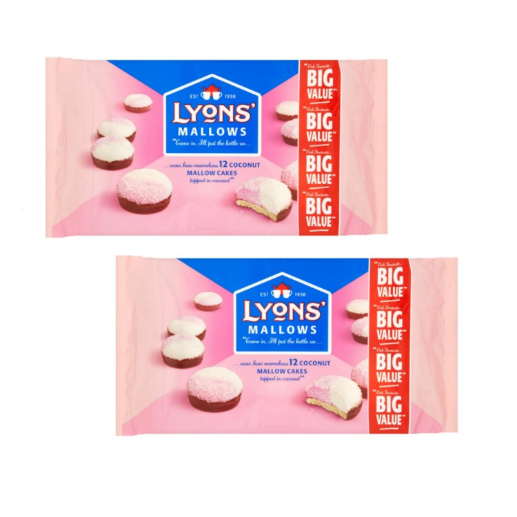 Lyons Coconut Mallows 250g - 2 For £1.50