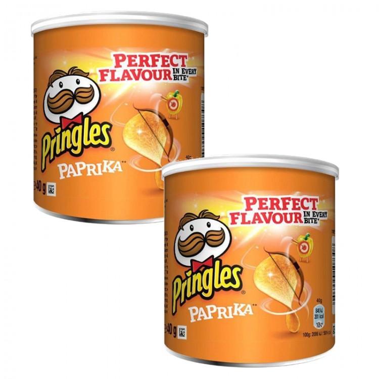 Pringles Paprika 40g - 2 For £1