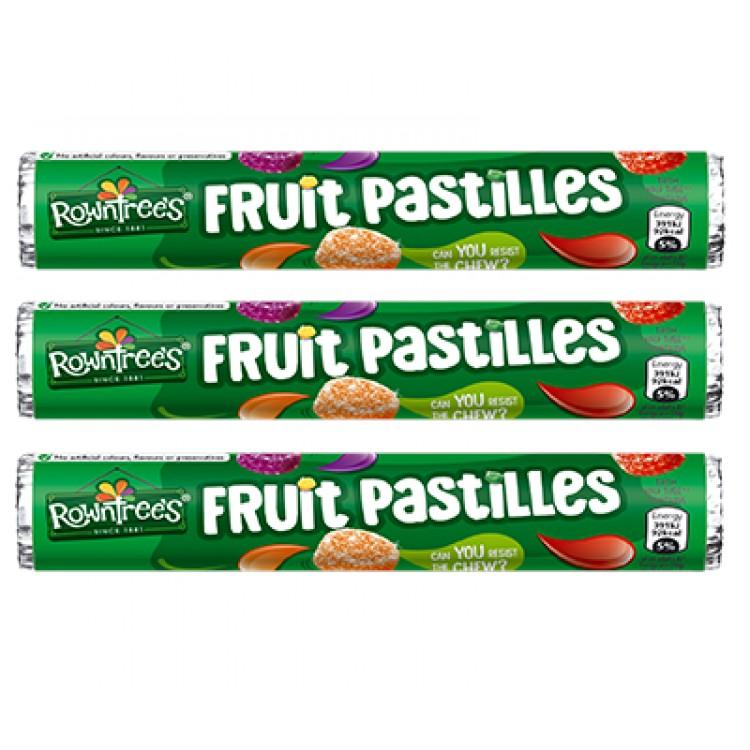 Rowntrees Fruit Pastilles 52.5g - 3 For £1