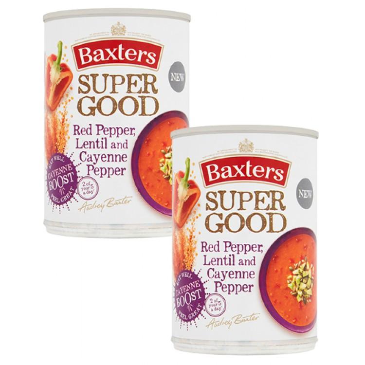 Baxters Super Good Red Pepper Lentil & Cayenne Pepper Soup 400g - 2 For £1.50