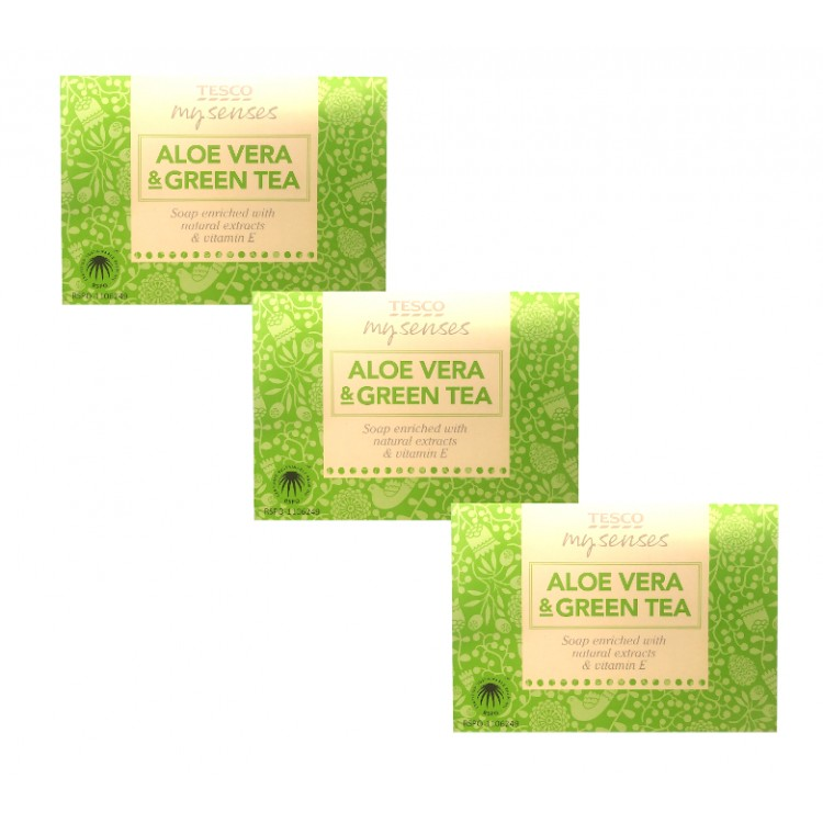 My Senses Aleo Vera & Green Tea Soap Bar - 3 For £1