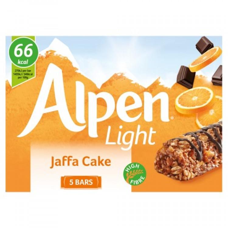 Alpen Light Jaffa Cake Bars 5pack - 95g
