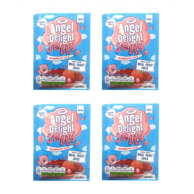Angel Delight Strawberry Jelly 11.5g 4 For £1
