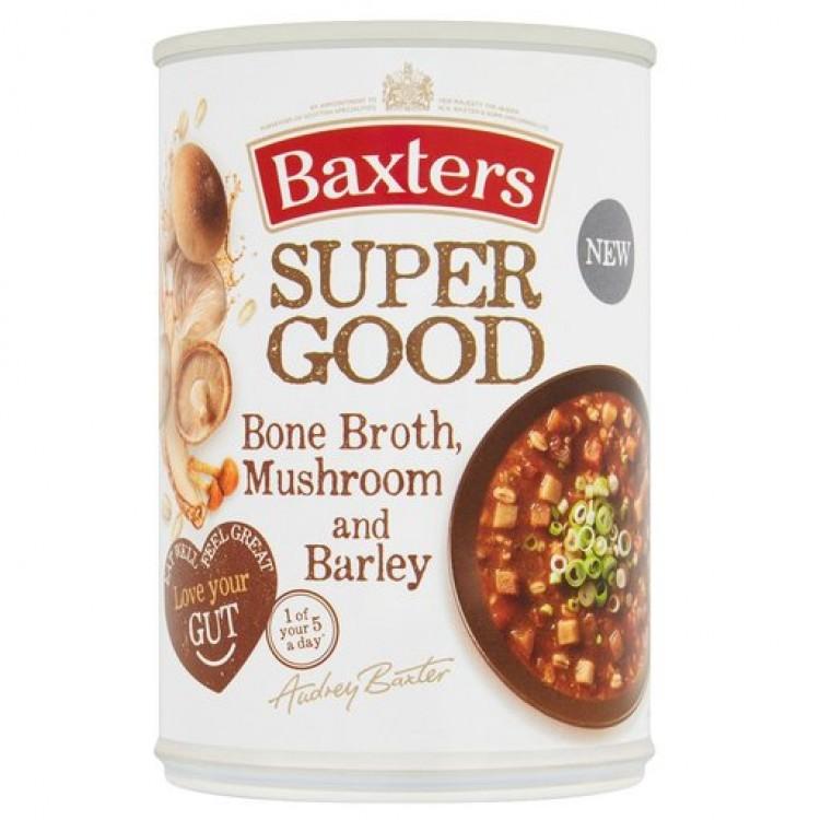 Baxters Super Good Bone Broth, Mushroom and Barley Soup 400g