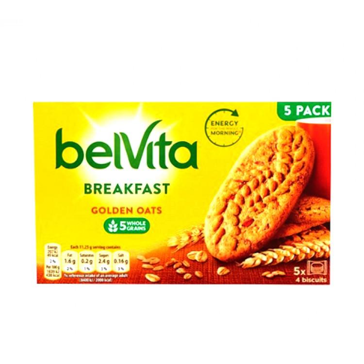 Belvita Golden Oats Breakfast Biscuits 5pk x 4 Biscuits 225g