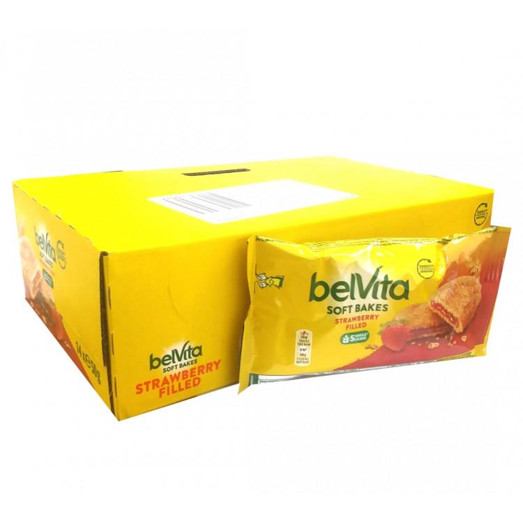 Belvita Soft Bakes Strawberry Filled 50g - CASE PRICE x14 BARS