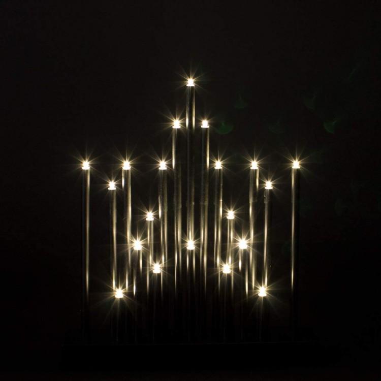 Black Star Candle Bridge with Warm LED Lights