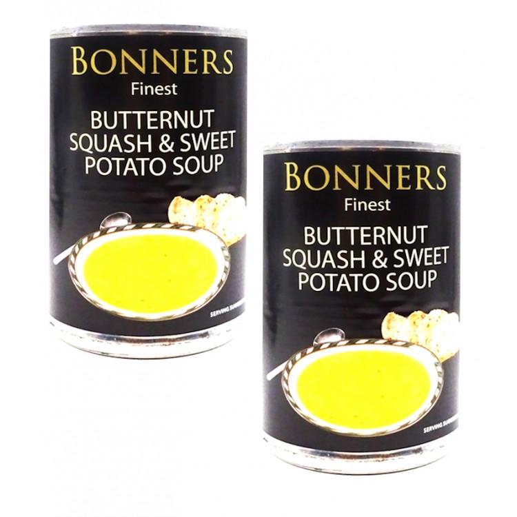 Bonners Butternut Squash & Sweet Potato Soup 400g - 2 For £1