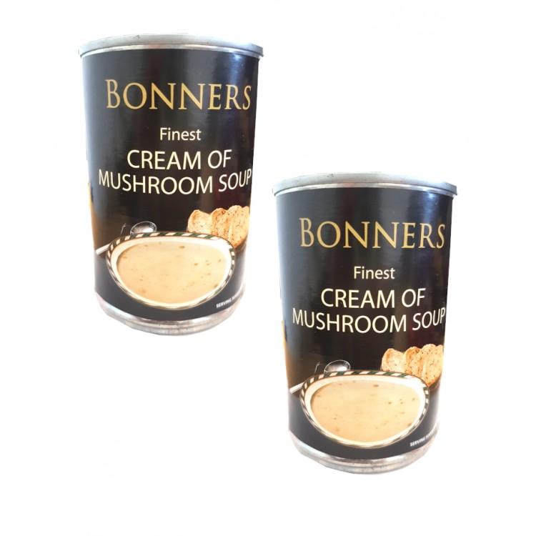 Bonners Cream Of Mushroom Soup 400g - 2 for £1