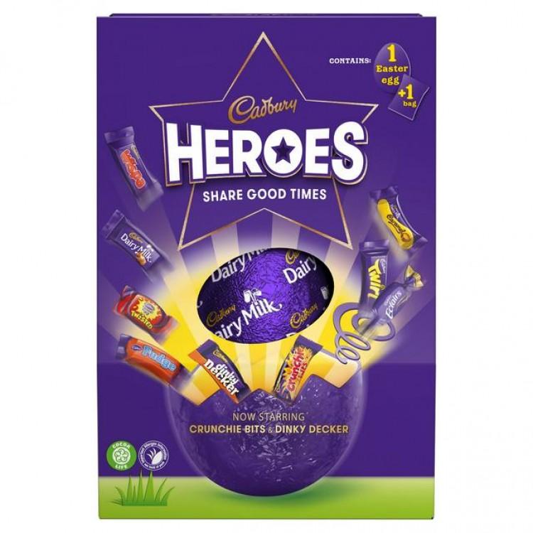 Cadburys Heroes Share Good Times Easter Eggs 271g - £1