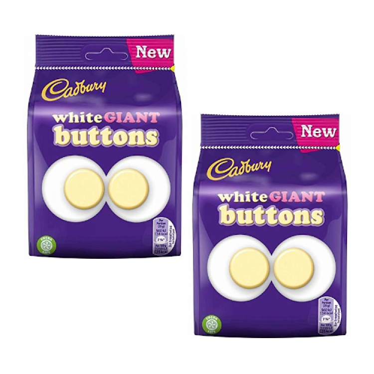 Cadburys White Giant Buttons 110g - 2 For £1.50