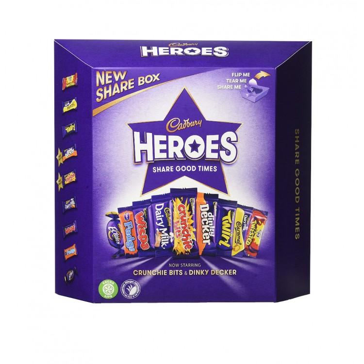 Cadburys Heroes Share Good Times Share Box - 395g