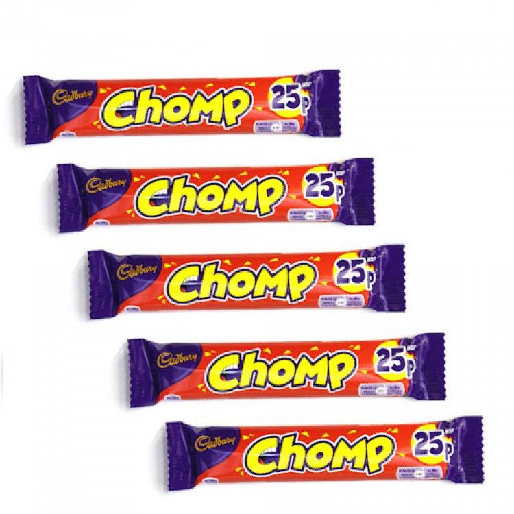 Cadbury Chomp Chocolate Bar 23.5g - 5 For £1