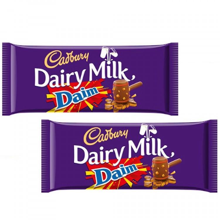 Cadbury Dairy Milk With Daim (Share Bar) 120g 2 For £1.50