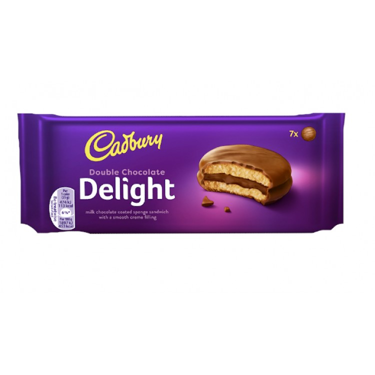 Cadburys Double Chocolate Delight Sponge Sandwich