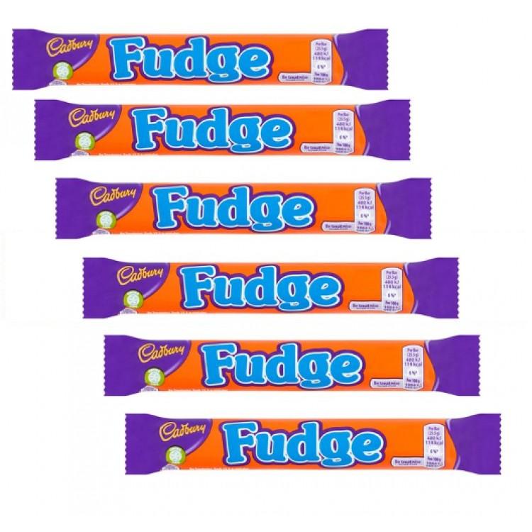 Cadburys Fudge 25.5g Single Bar - 6 For £1
