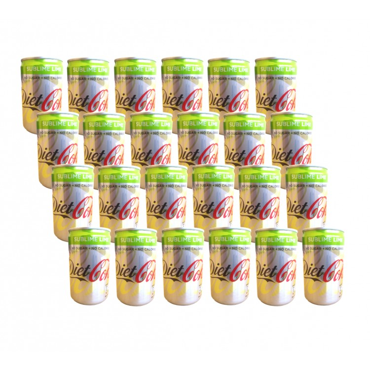 Diet Coke Sublime Lime 150ml 24 x Can CASE PRICE