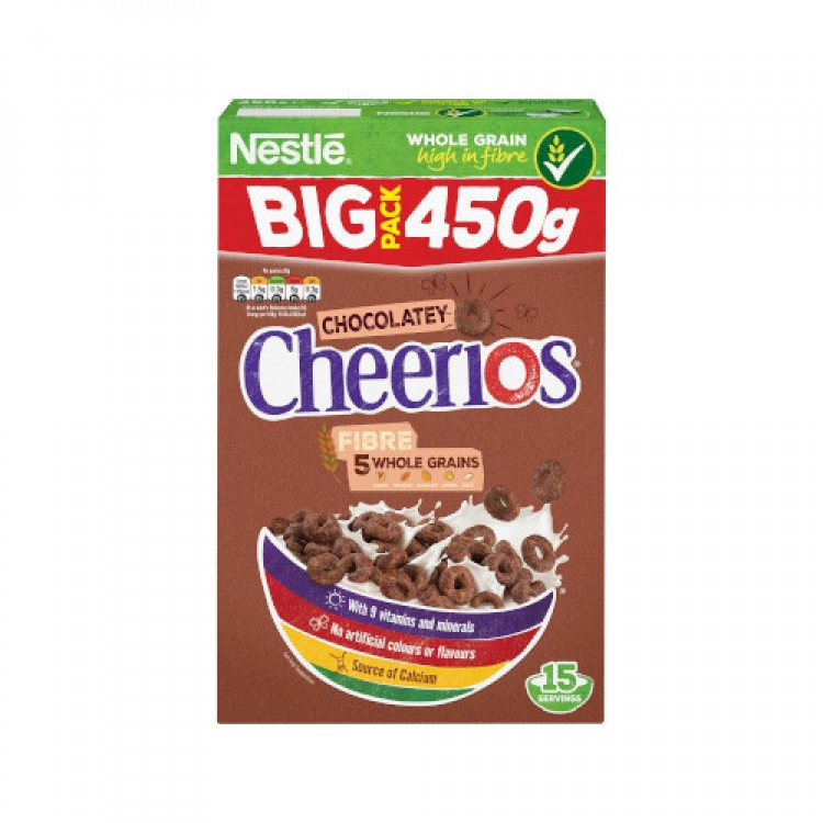 Nestle Chocolatey Cheerios Cereal BIG Pack 450g
