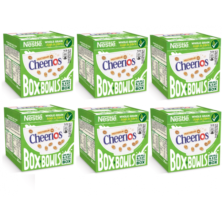 Cheerios Box Bowl Cereals 30g - 6 For £1