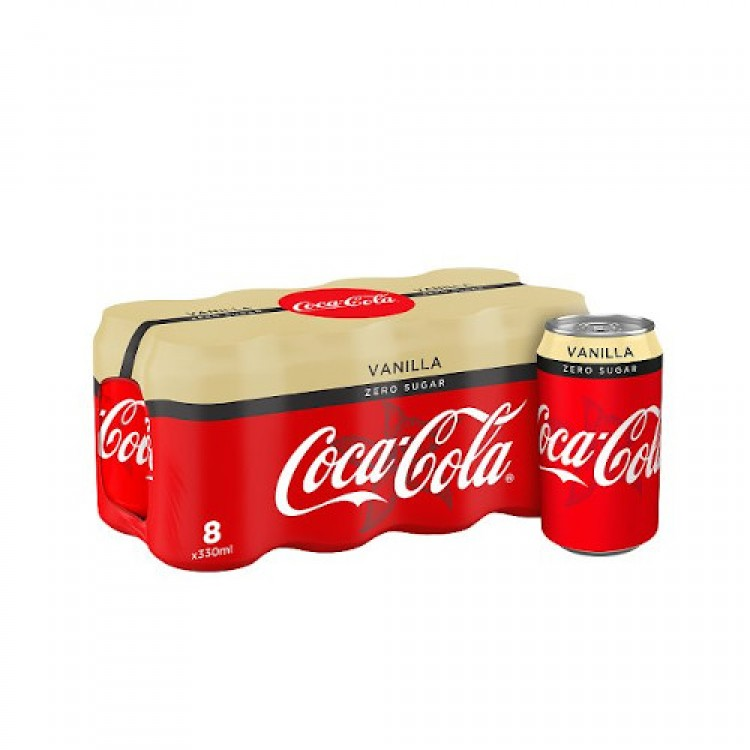 Coca Cola Vanilla Zero Sugar 8 pk