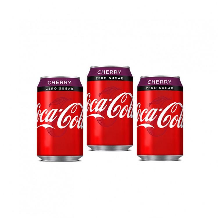 Coca Cola Cherry Zero Sugar 330ml - 3 For £1