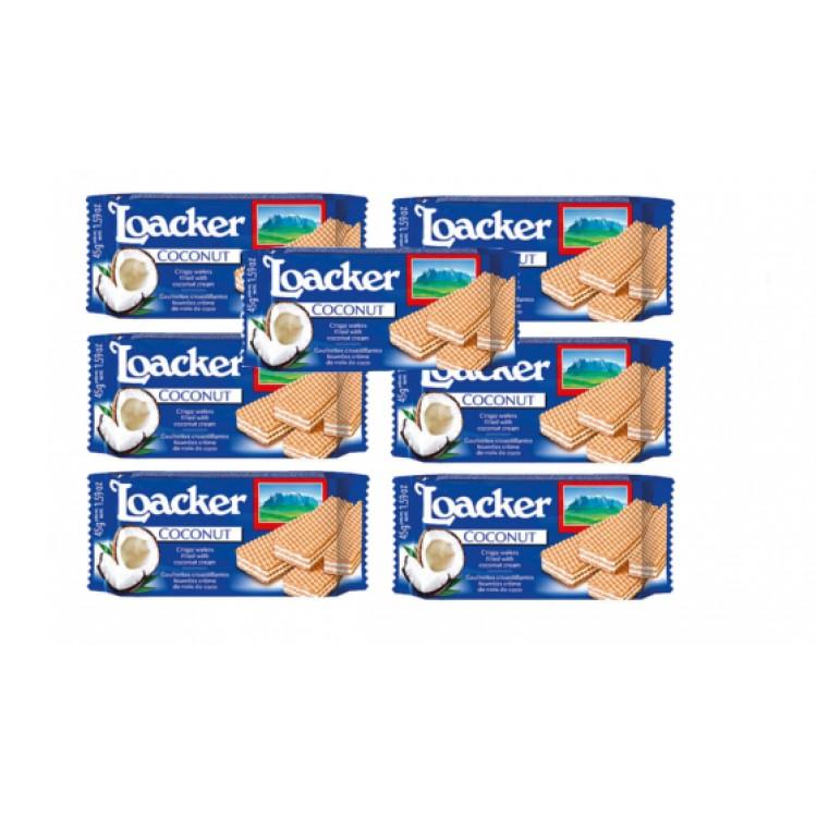 Loacker Crispy Coconut Wafer 45g 7 for £1