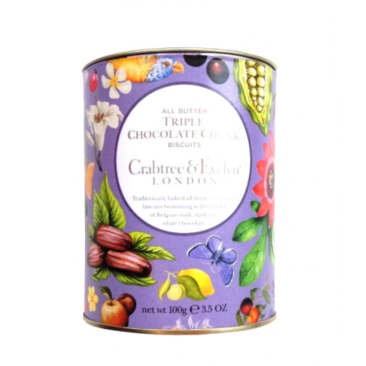 Crabtree & Evelyn Triple Chocolate Biscuits 100g