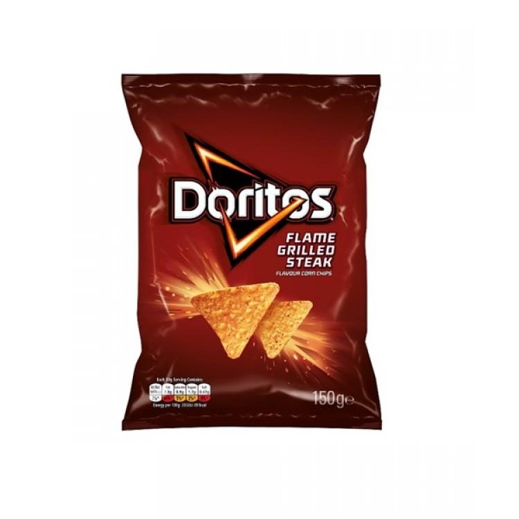 Doritos Flame Grilled Steak Flavour Corn Chips 150g