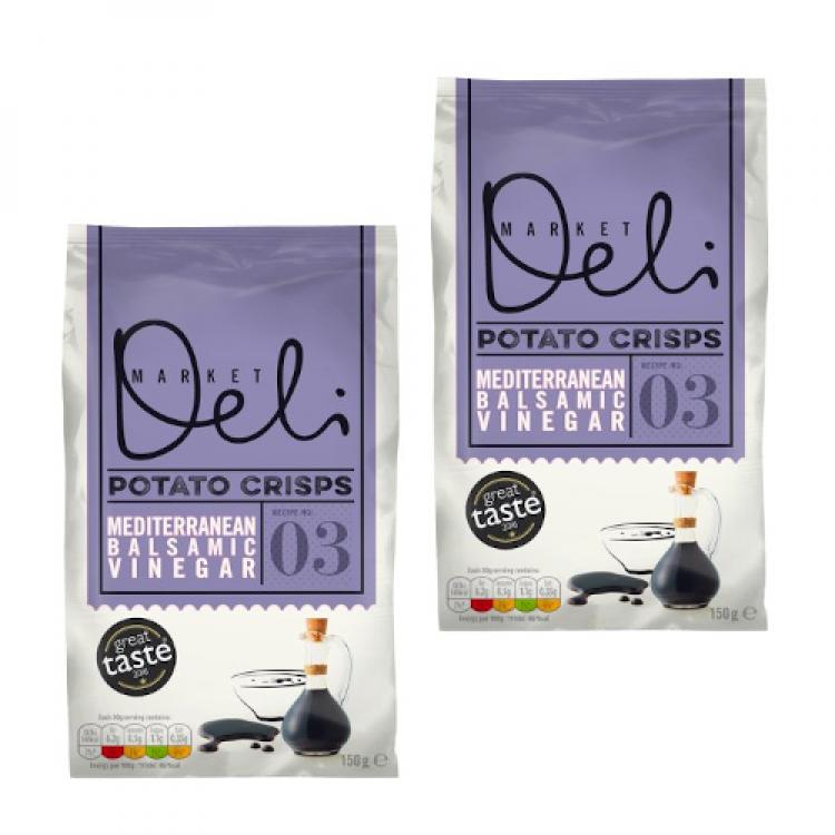 Market Deli Balsamic Vinegar Crisps (Share bag) 150g 2 For £1.50