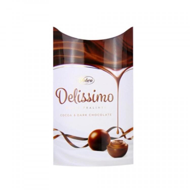 Delissimo Royal Pralines Cocoa & Dark Chocolate 105g