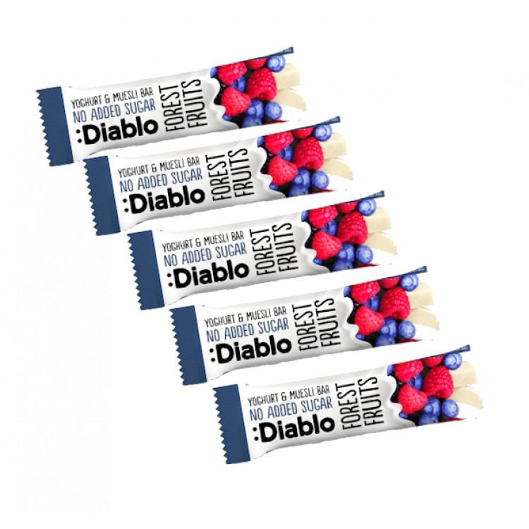 Diablo No Added Sugar Forest Fruits Yogurt & Muesli Bars 30g - 5 For £1