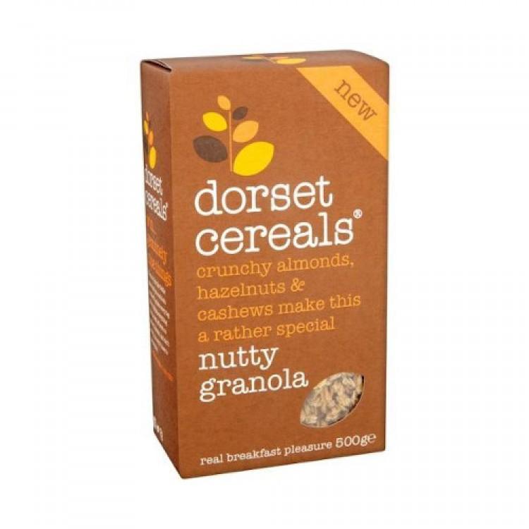 Dorset Cereal Nutty Granola Crunchy Almonds Hazelnuts & Cashews 500g