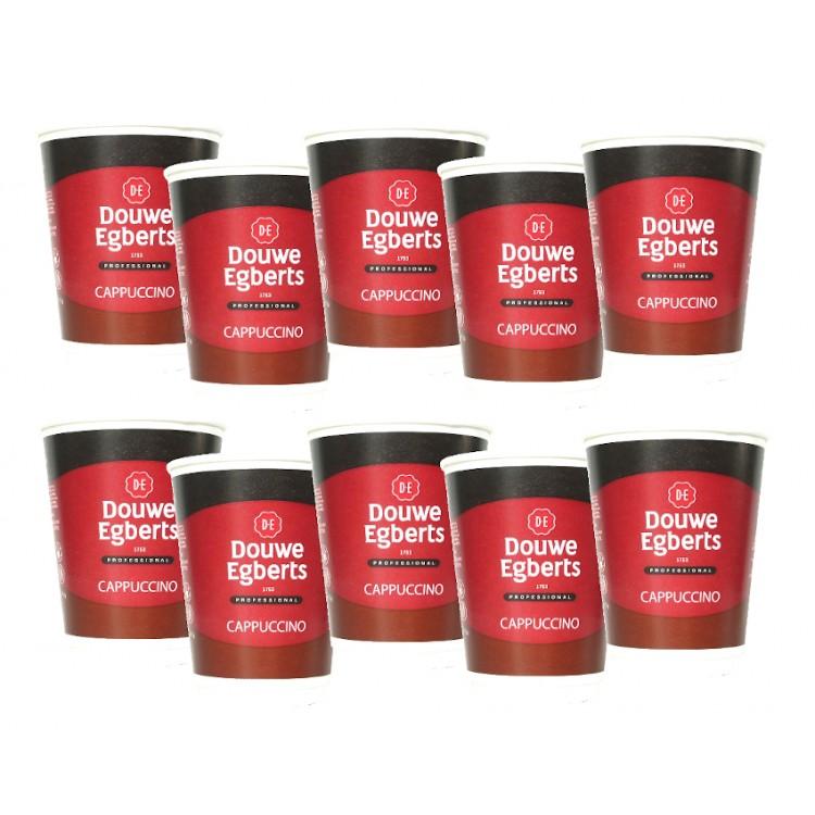 Douwe Egberts Cappuccino 10 x Cups Sleeve 12oz