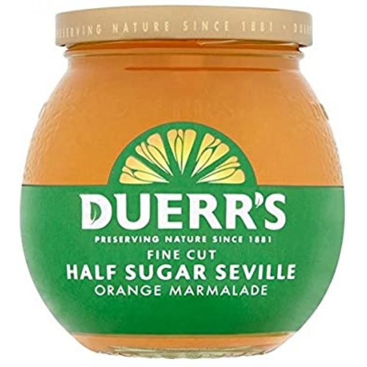 Duerrs Fine Cut Half Sugar Seville Orange Marmalade 390g