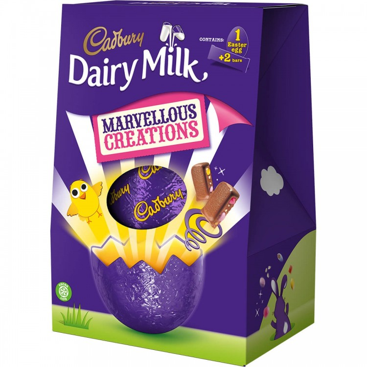 Cadburys Dairy Milk Marvellous Creations Easter Eggs 271g - £1